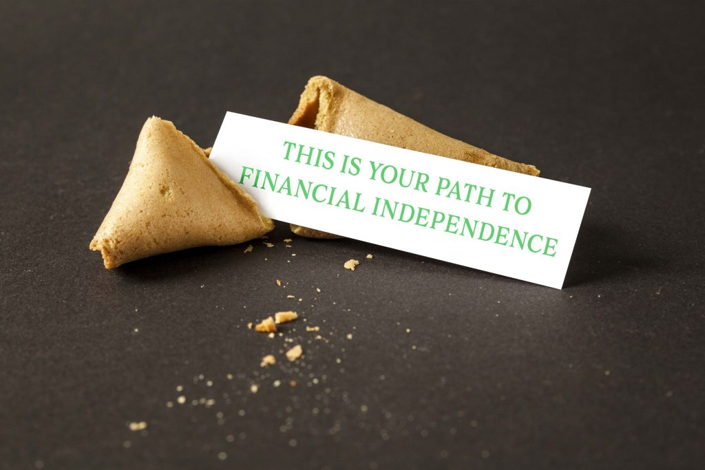 Your Path to Financial Independence Real Intelligence 360 An image of a fortune cookie with a blank paper for your message